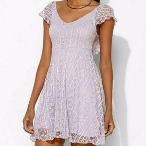 UO Kimchi Blue Lavender Lace Floral Dress size S